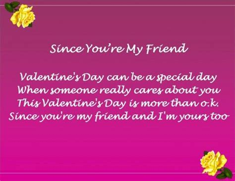 Valentine Day Poems for Friends