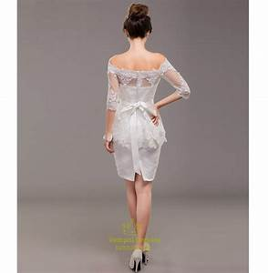 short off white lace bridesmaid dresseswhite lace dress With short off white wedding dresses