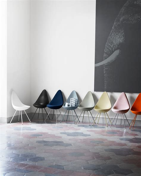 drop chair reintroduced by fritz hansen design milk