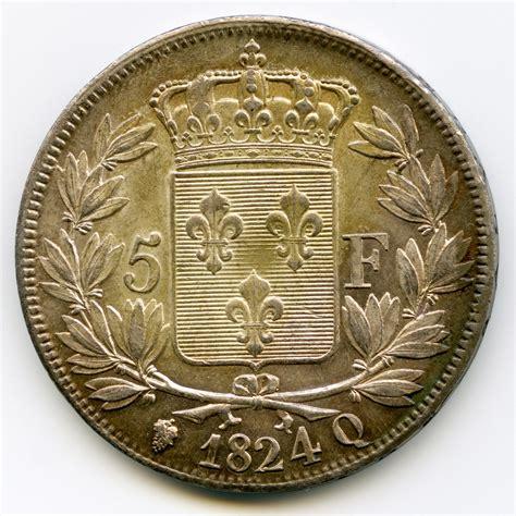 bureau de change à strasbourg louis xviii 5 francs 1824 q