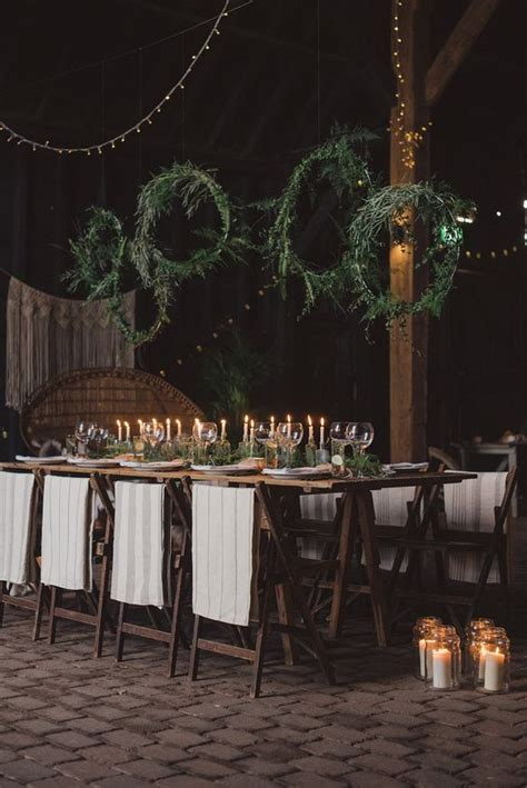 picture   moody boho winter reception   evergreen