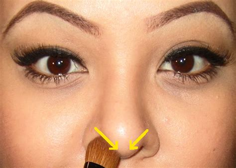 big tip concealer how to slim your nose with makeup nose contouring