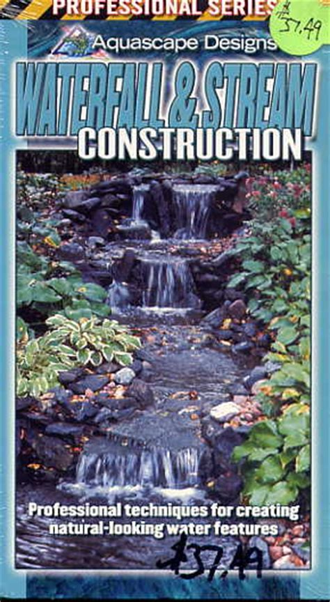 Aquascape Designs Inc by Clearance Waterfall Construction Water Garden