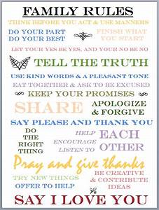 family house rules printable bing images With house rules chart template