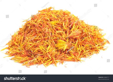 saffron substitute pile of safflower substitute for saffron isolated on white background stock photo 93880717