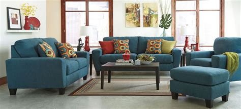 sagen teal living room set from ashley 9390238 coleman