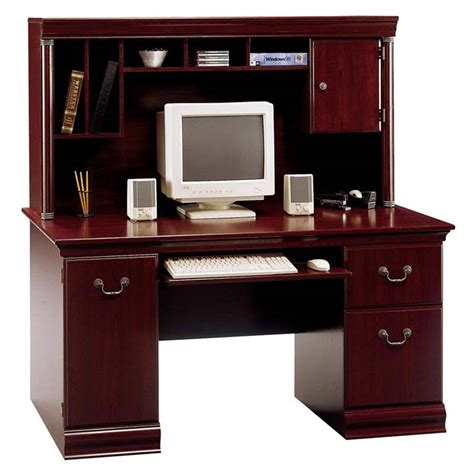 executive desk with hutch bush birmingham collection 60 executive desk with hutch