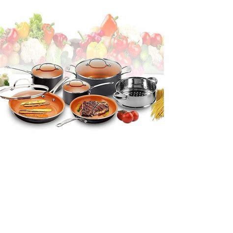 star copper pan  piece package  cookware set  glass lids dealsdotcom cookware