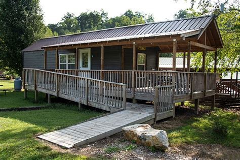 handicap accessible campground cabin  mountain view