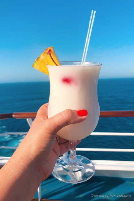 drinks  carnival cruise  pina colada