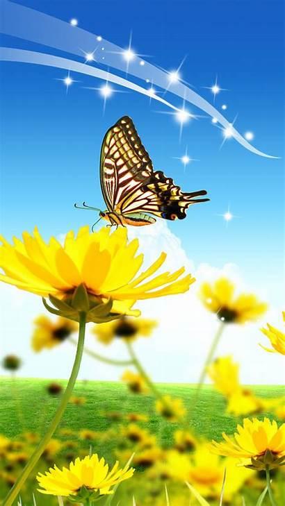 Samsung Wallpapers Mobile Galaxy Butterfly Flowers Technocrazed