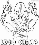 Chima Coloring Lego Pages Fire Ice Template sketch template