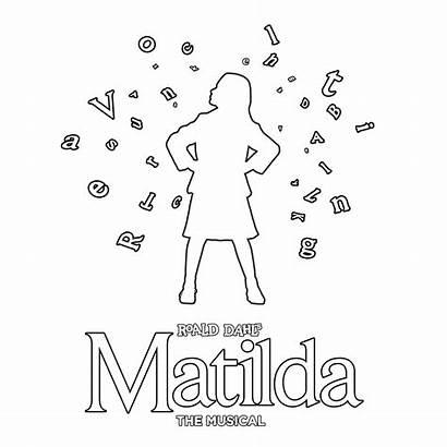 Colouring Matilda Sheets Musical Pose
