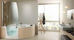 Baignoire Angle Douche : 4 baignoires douches avec ou sans porte ~ Voncanada.com Idées de Décoration