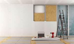 Poser Placo Mur Avec Rail : placo avec isolant int gr mt44 jornalagora ~ Melissatoandfro.com Idées de Décoration