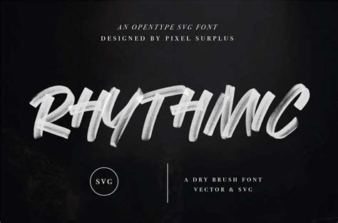 Download from free file storage. Rhythmic Dry Brush Free SVG Font - Best Free Fonts | Freebiefy