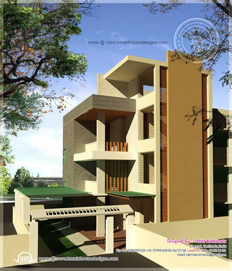 Luxury 3 Floor House Elevation With Floor Plan House