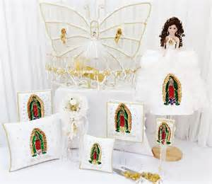 virgen de guadalupe quinceanera package toasting set doll