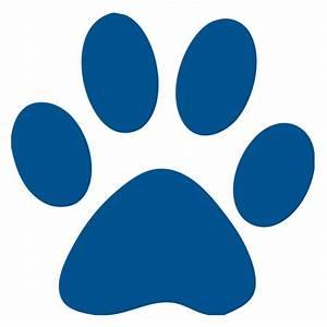 Blue Paw Print Logo - ClipArt Best