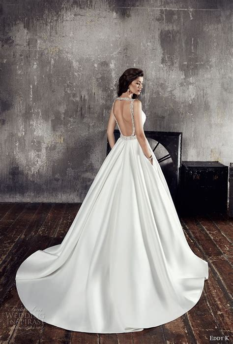 wedding lace sleeveless dress eddy k couture 2018 wedding dresses wedding inspirasi