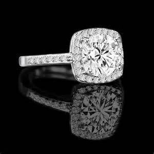 simulated engagement rings 0 50 ct radiant cushion square center halo settings ring veneer simulated