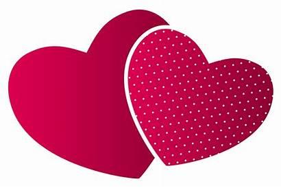 Heart Hearts Clipart Double Clip Transparent Vector