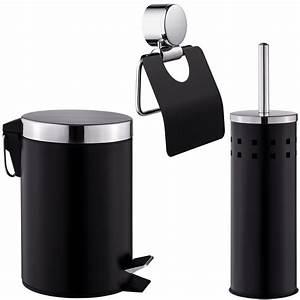 Toilettenpapierhalter Stehend Design : set salle de bain brosse pour toilettes porte papier toilette poubelle ebay ~ A.2002-acura-tl-radio.info Haus und Dekorationen