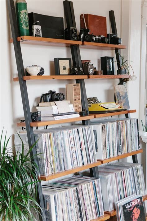 vinyl record storage shelf simple and ways to your vinyl record collection