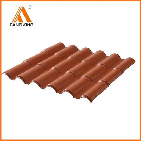 synthetic terracotta plastic pvc roof tiles prices