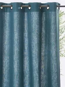 Double Rideau Bleu : rideau lin oeillets bleu paon craie gris ardoise gris perle lin ocre 1 deco pinterest ~ Teatrodelosmanantiales.com Idées de Décoration