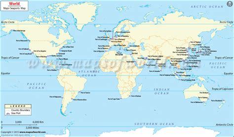 world seaports map