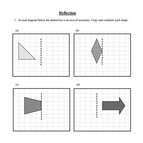 7 reflective symmetry worksheet templates free word