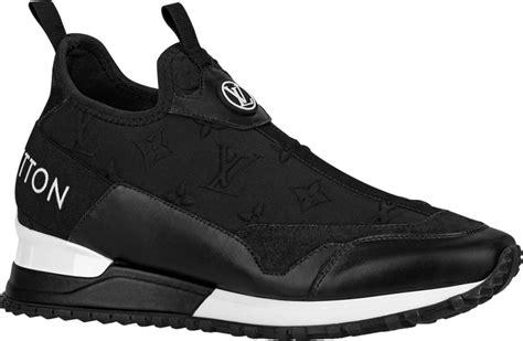 louis vuitton black monogram run  slip  sneakers incorporated style