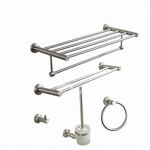 nickel brushed silver modern bathroom accessories sets With brushed nickel bathroom hardware sets