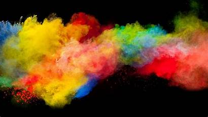 Explosion Colorful Powder Background Widescreen Dual Wide