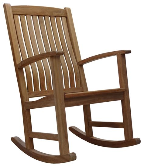 douglas teak rocker traditional outdoor rocking chairs