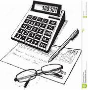 Subjects of attribute of the accountant  drawing on paper   Female Accountant Clipart