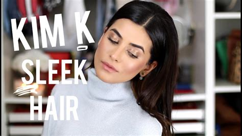 kim kardashian sleek hair tutorial  easy youtube