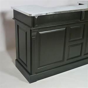 Bar En Bois : bar bois massif noir et plateau zinc 180cm made in meubles ~ Teatrodelosmanantiales.com Idées de Décoration