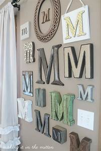 making it in the mitten monogrammed wall With wall decor letters