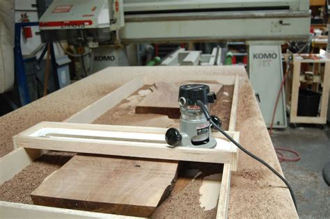 plane  wood slabs   planing sled   build