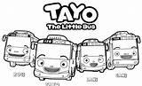 Tayo Bus Coloring Hana Gani Buses Mechanic Visualartideas sketch template