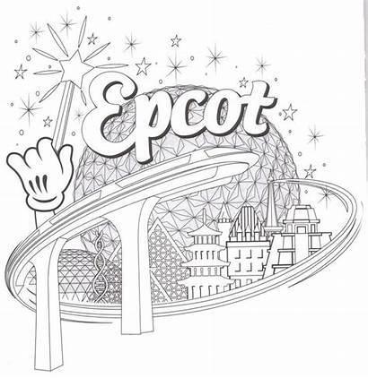 Coloring Disney Pages Animal Kingdom Epcot Activity