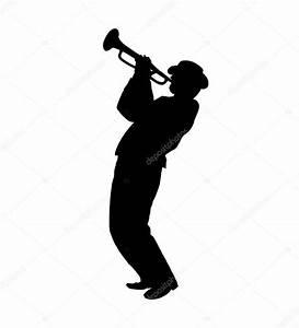 Jazz Musician trumpet player. Illustration. Retro music ...