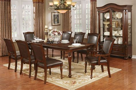 Cherry Dining Room Set by Sylvana Brown Cherry Dining Room Set 1stopbedrooms