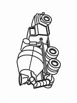 Betonmischer sketch template