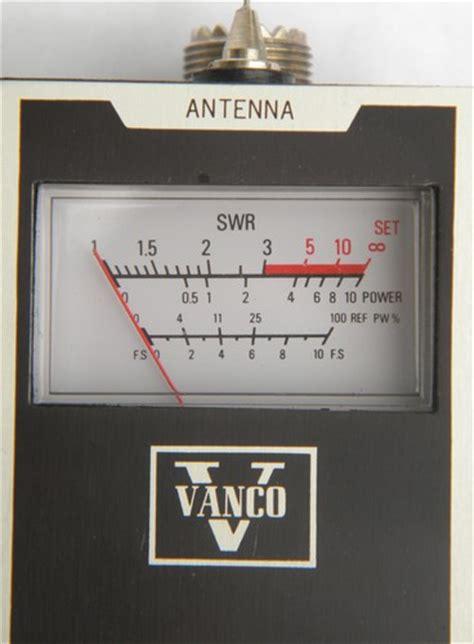 vintage vanco swr  field strength meter  shortwave