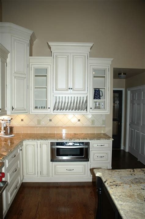 staggered height wall cabinets