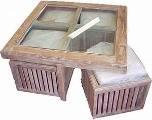 Table Basse Pouf Intégré : table basse avec poufs integres ikea le bois chez vous ~ Dallasstarsshop.com Idées de Décoration