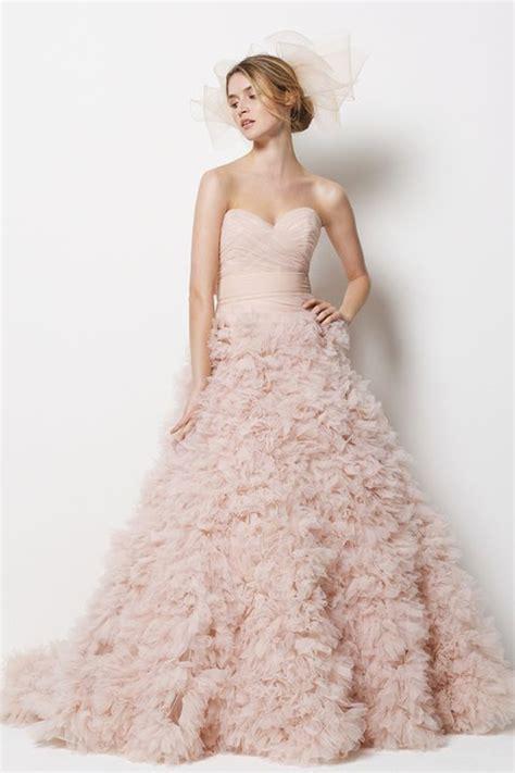 blush colored wedding gowns wedding trends blush wedding dresses the magazine